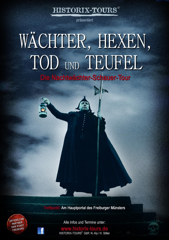 Wächter, Hexen, Tod und Teufel – Die Schauer-Tour mit dem Freiburger Nachtwächer