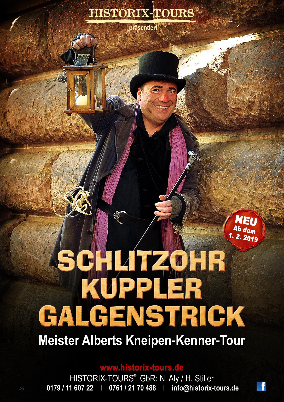 """Schlitzohr, Kuppler, Satansbraten – Urige Gasthaus-Tour mit """"Meister Albert, dem König der Wolfshöhle"""""""