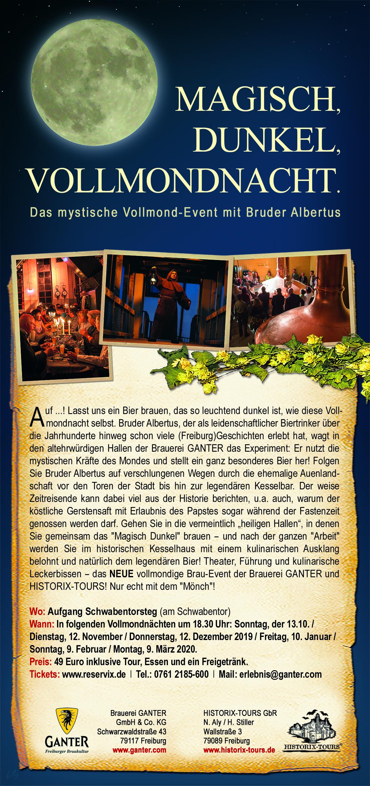 """""""Magisch, Dunkel, Vollmondnacht"""" – Vollmond-Event (Tickets nur um VVK)"""