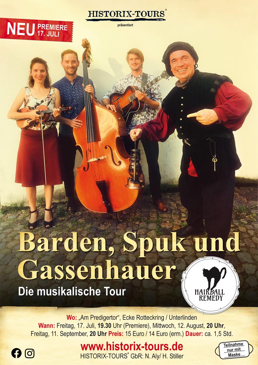 """""""Barden, Spuk und Gassenhauer"""" – Die musikalische Tour (ohne Anmeldung)"""